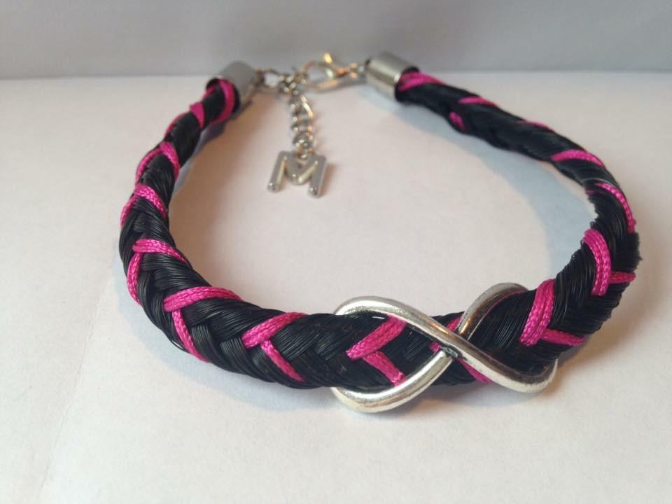 Bracelet colorés rose et connecteur infini