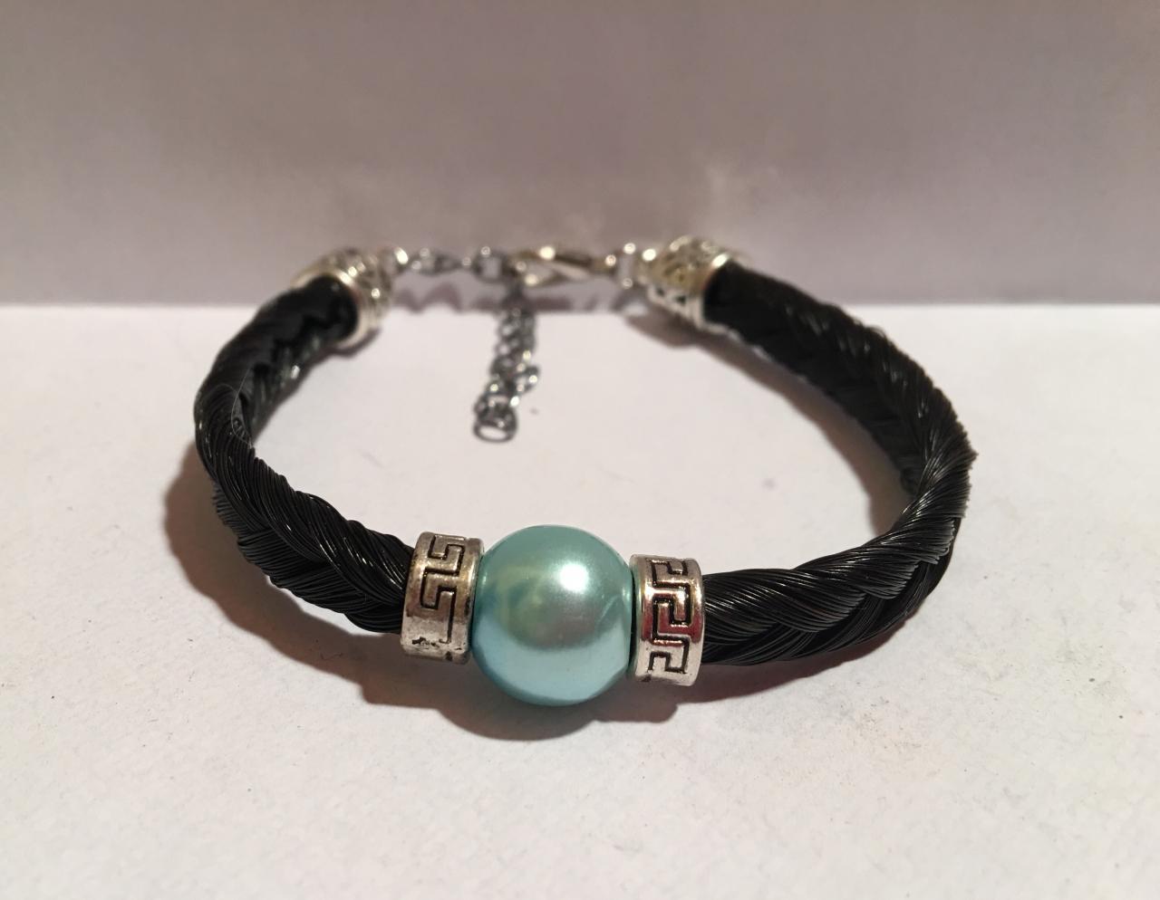 Bracelet avec connecteur perle turquoise