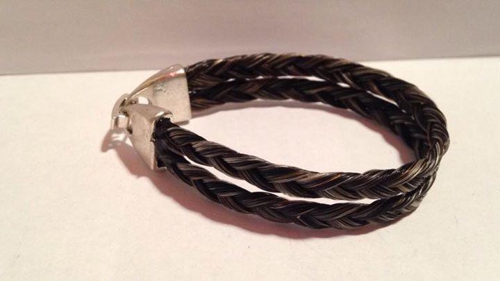 Bracelet double tresse fine