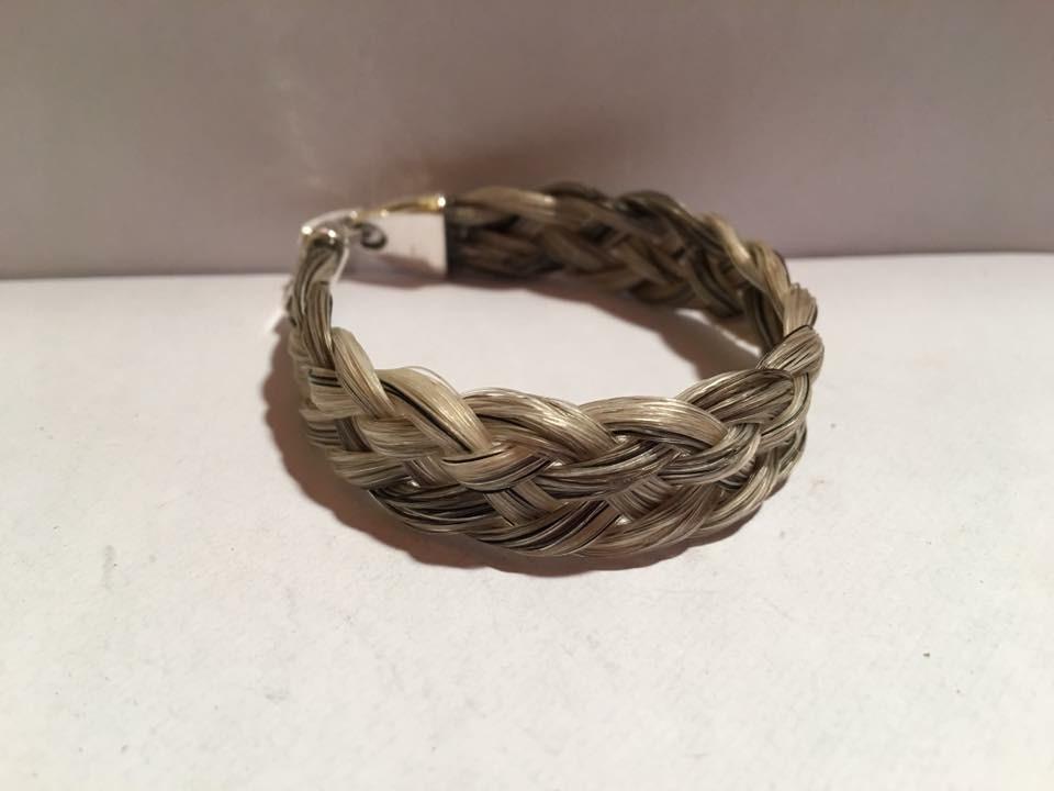 Bracelet tressage plat