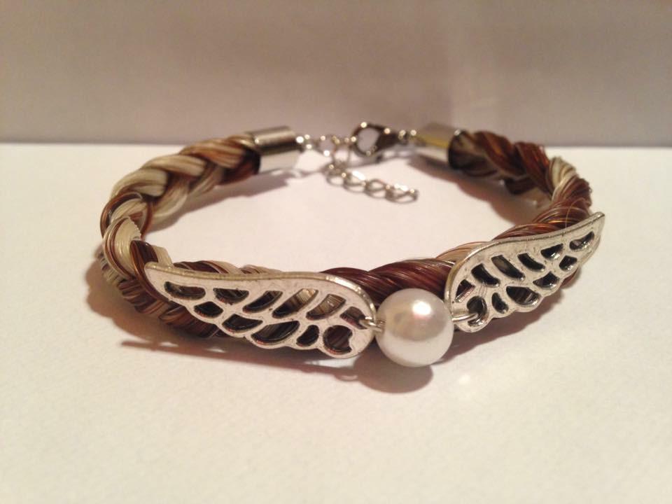 Bracelet connecteur aile et perle