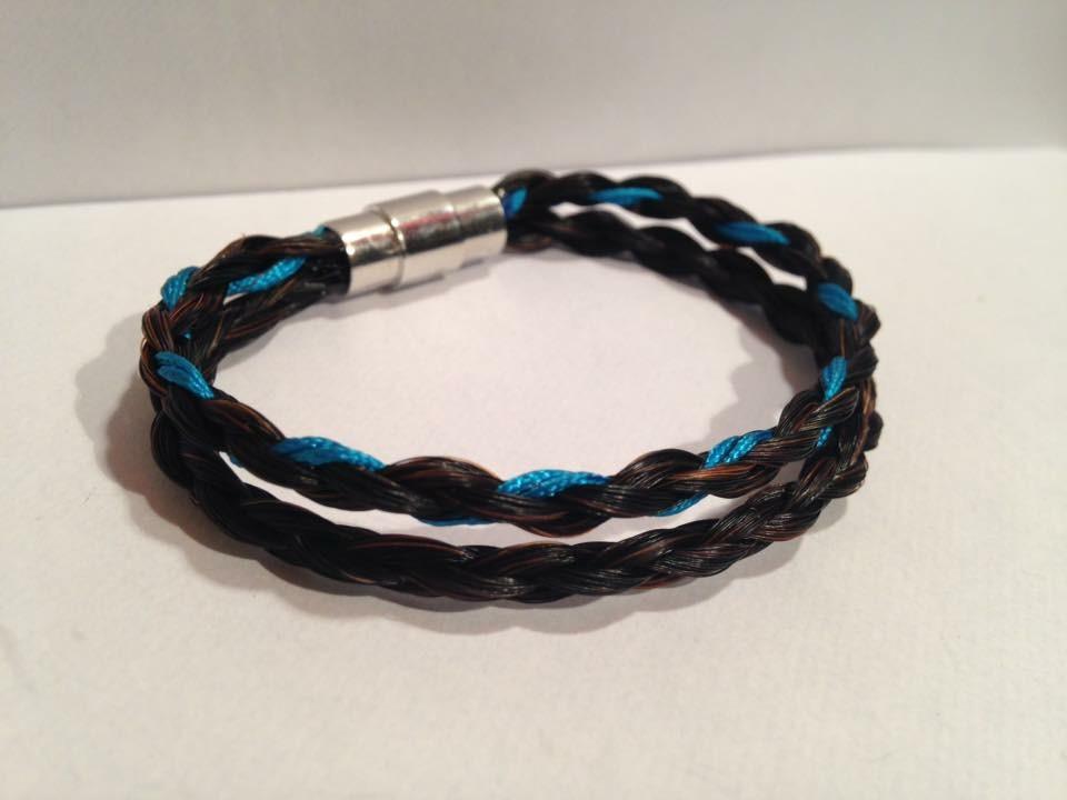 Bracelet double tresse rond