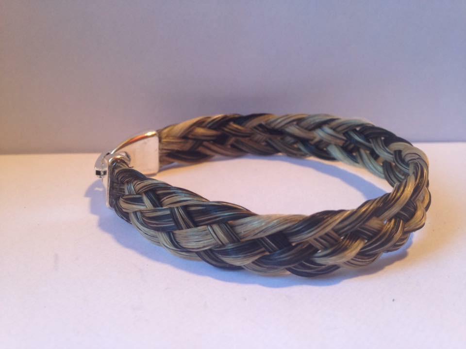 Bracelet large tressage plat