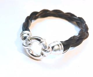 Creation crins cheval bijoux bracelet fermoir argent femme cadeau souvenir deces