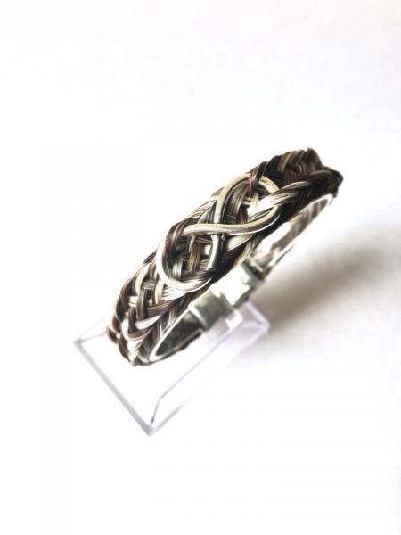 Creation crins cheval bijoux bracelet osier infini acier inoxydable souvenir poney