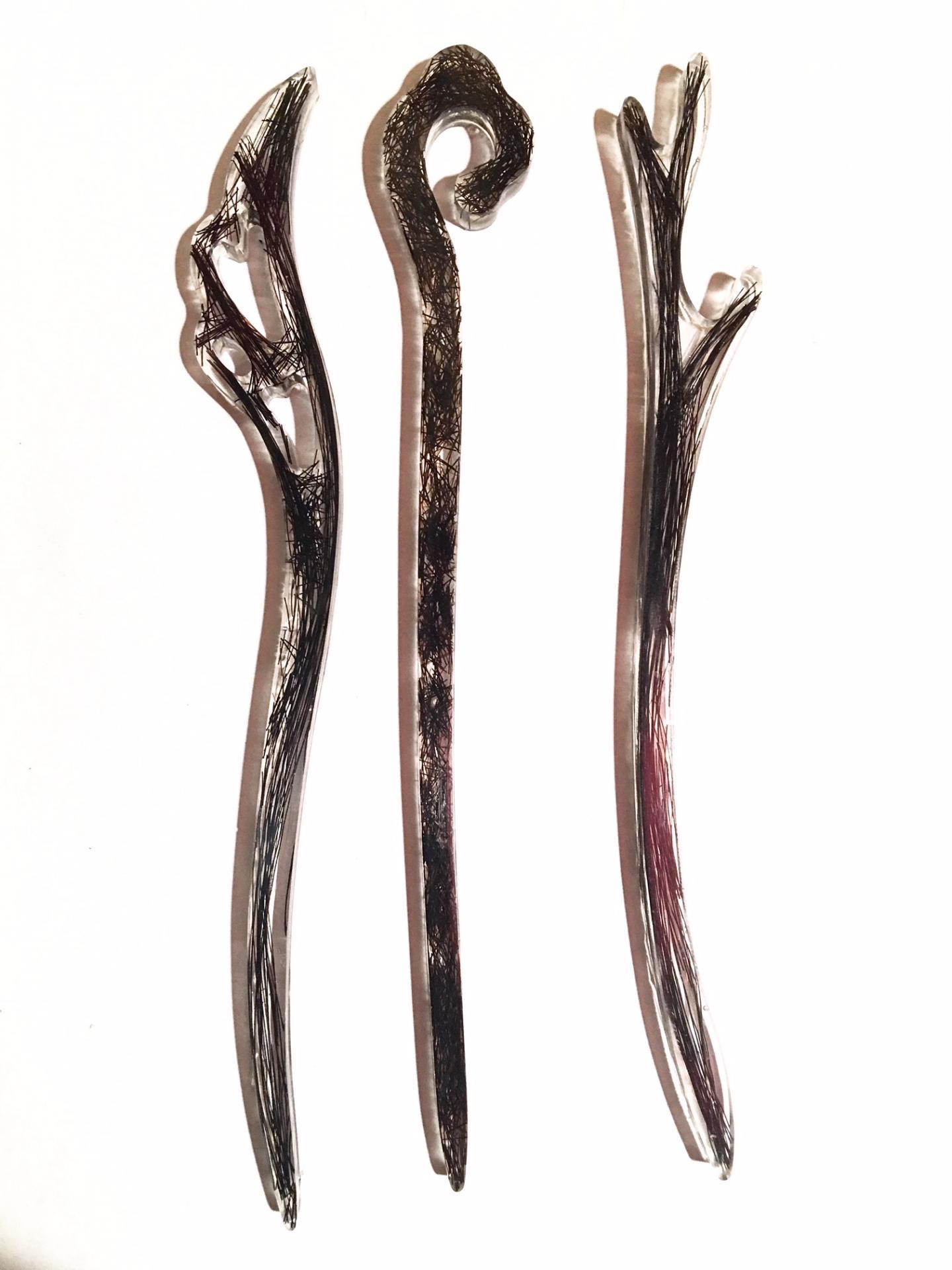 Creation crins cheval bijoux pique cheveux immortel forme originale femme resine solide
