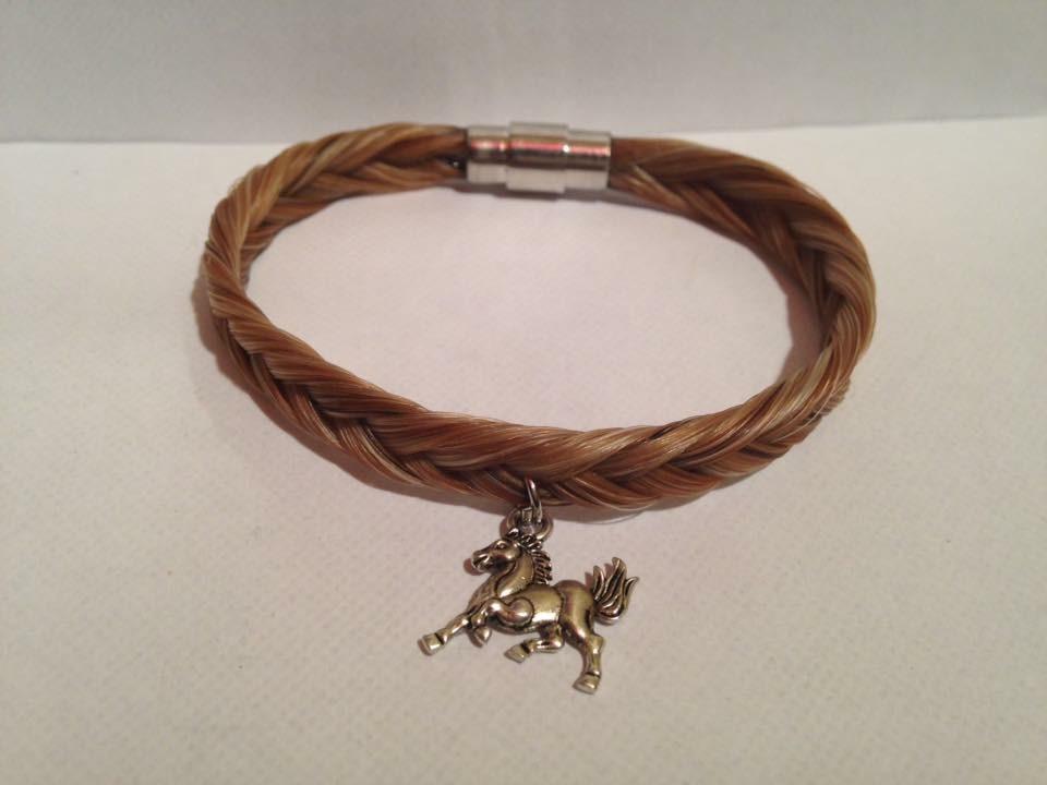 Bracelet en crins de cheval tressage épi