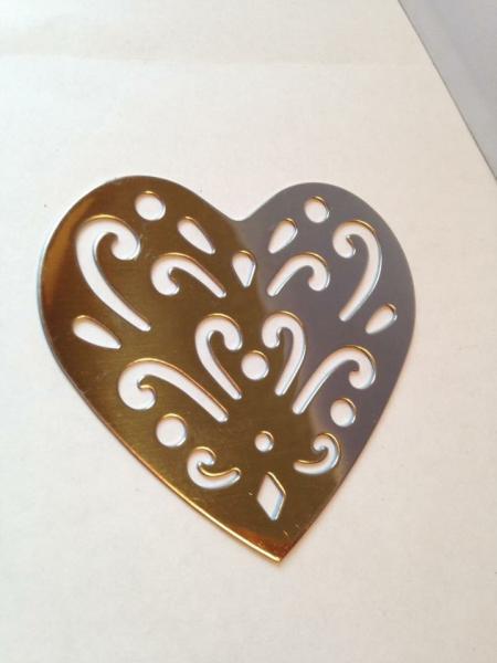 Marque page coeur argent dessin